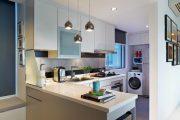 Фото 19 Встроенная стиральная машина на кухне: советы по выбору и 60+ оптимальных вариантов размещения