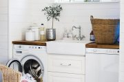 Фото 22 Встроенная стиральная машина на кухне: советы по выбору и 60+ оптимальных вариантов размещения