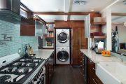 Фото 28 Встроенная стиральная машина на кухне: советы по выбору и 60+ оптимальных вариантов размещения
