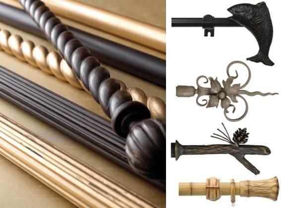 К деревянным карнизам можно подобрать практически любые металлические наконечники