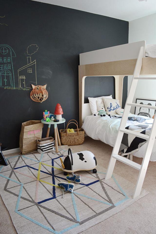 Доска дли рисования на стене прекрасная альтернатива обоям и окрашенным стенам в детской