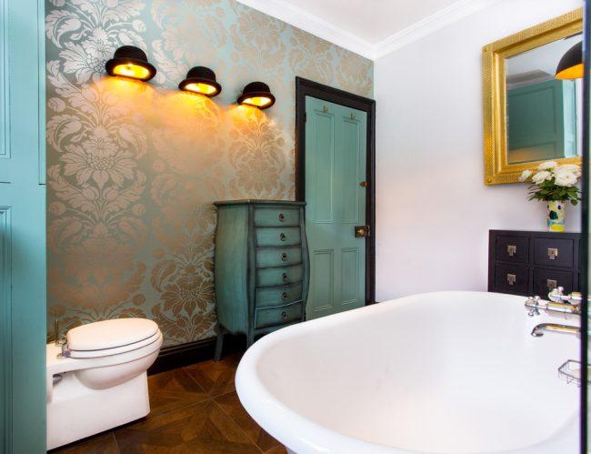 Ванная комната в морских тонах