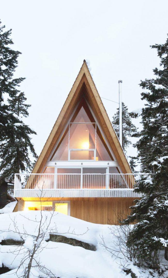 Дом - шалаш в скандинавском стиле