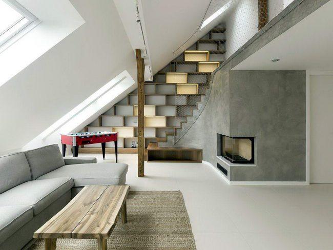 Интересные дизайнерские идея, воплощенные в жизнь, в оформлении второго этажа домика - шалаша