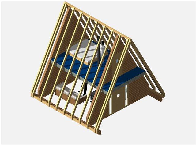 Как построить треугольный дом своими руками 6