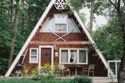 Фото 4 Дом-шалаш: обзор готовых дизайнерских проектов и 80 комфортных и современных реализаций