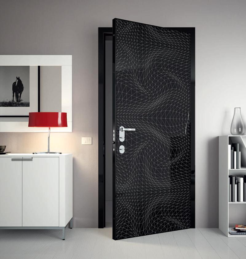 Металлические двери в интерьере фото