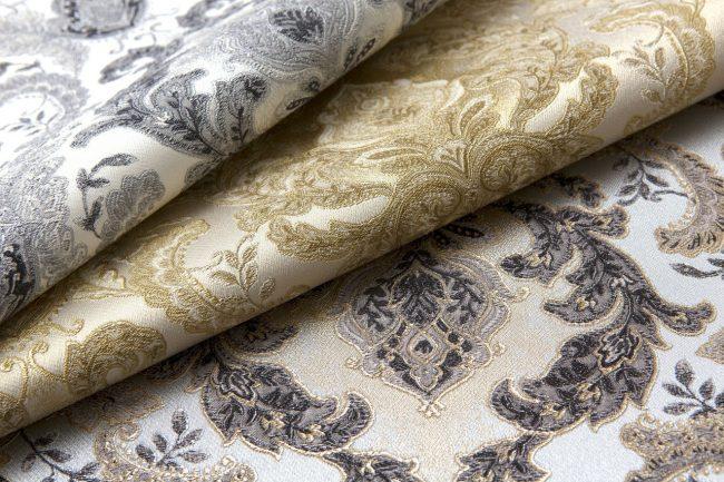 Необычайно красивые виниловые обои на флизелиновой основе имитирующие дорогие ткани