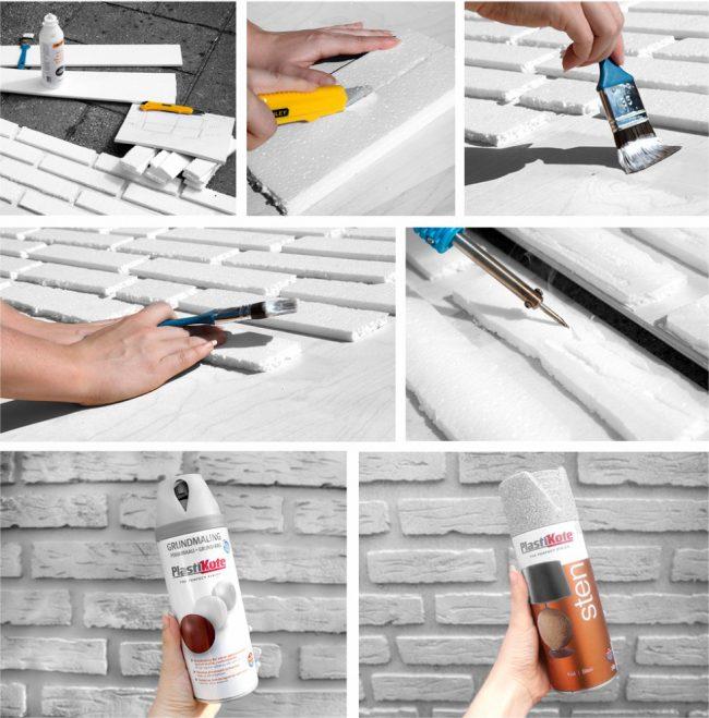 Процесс изготовления декоративных кирпичных панелей для стен