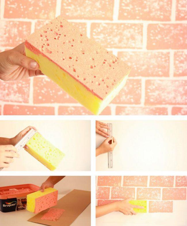 Оригинальная идея создания кирпичной стены