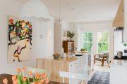 Фото 3 Белая кухня с деревянной столешницей: 70 лучших реализаций в стиле контемпорари, кантри и минимализм