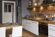 Фото 18 Белая кухня с деревянной столешницей: 70 лучших реализаций в стиле контемпорари, кантри и минимализм