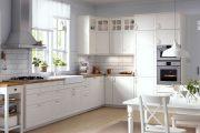 Фото 22 Белая кухня с деревянной столешницей: 70 лучших реализаций в стиле контемпорари, кантри и минимализм