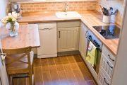 Фото 24 Белая кухня с деревянной столешницей: 70 лучших реализаций в стиле контемпорари, кантри и минимализм