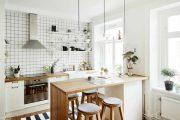 Фото 30 Белая кухня с деревянной столешницей: 70 лучших реализаций в стиле контемпорари, кантри и минимализм