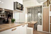 Фото 33 Белая кухня с деревянной столешницей: 70 лучших реализаций в стиле контемпорари, кантри и минимализм