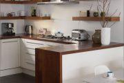 Фото 39 Белая кухня с деревянной столешницей: 70 лучших реализаций в стиле контемпорари, кантри и минимализм