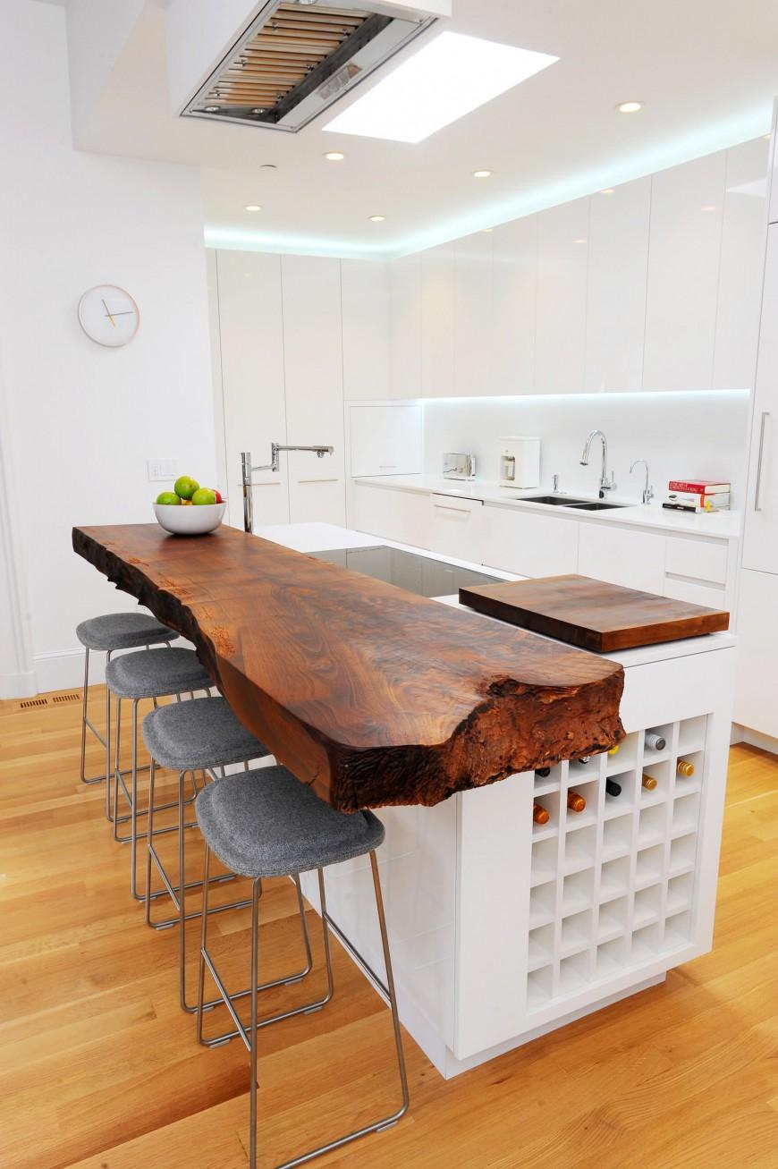 Барная стойка на кухне фото своими руками из дерева