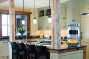 Фото 34 Кухня в деревянном доме: варианты зонирования и 85+ уютных дизайнерских решений