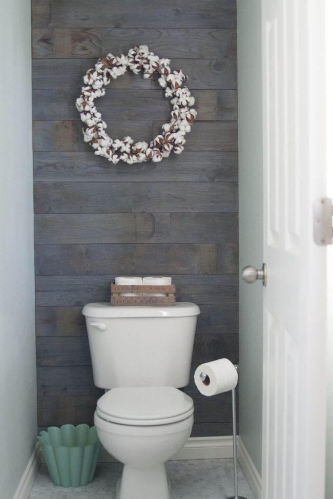 Холодный скандинавский стиль в оформлении туалета