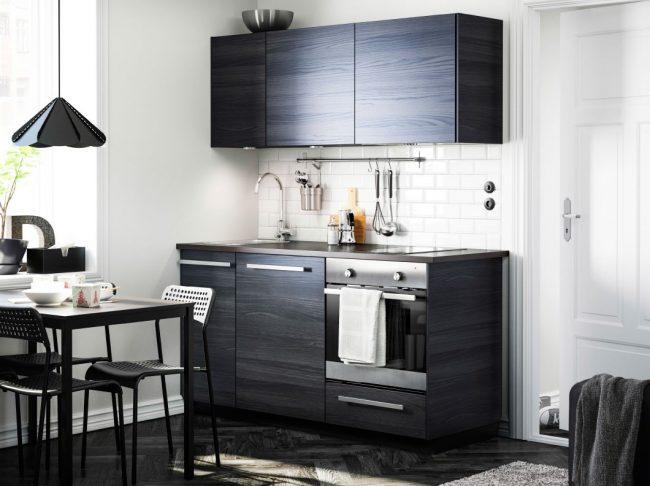 """Кухня """"Metod"""" от Ikea с отделкой фасадов под натуральное дерево"""