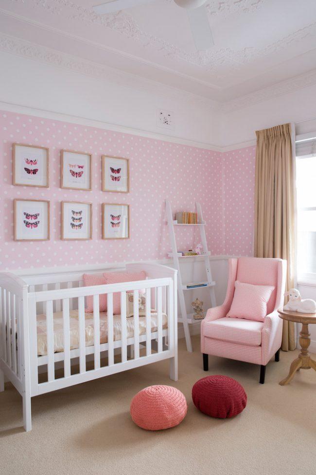 Традиционный нежно-розовый цвет для комнаты девочки