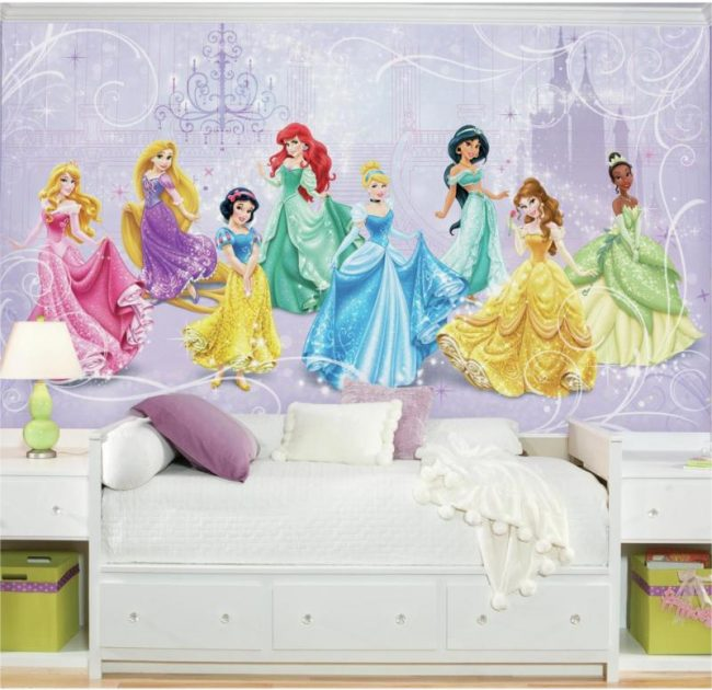 Обои для детской комнаты для девочек: 85 лучших фото интерьеров