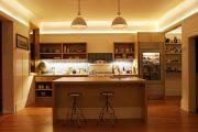 Фото 18 Светодиодная подсветка для кухонных шкафов: как выбрать, особенности монтажа и 65 универсальных идей
