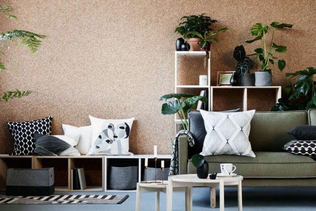 Экологическое и натуральное пробковое покрытие для отделки стен