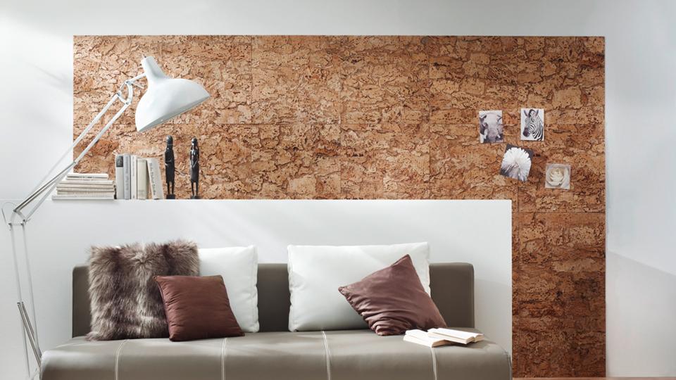 Стеновые пробковые панели для в интерьере фото
