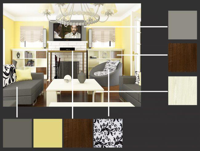 Двухмерный план помещения позволяет оценить варианты планировки, а трехмерный - подобрать стиль и палитру предметов мебели