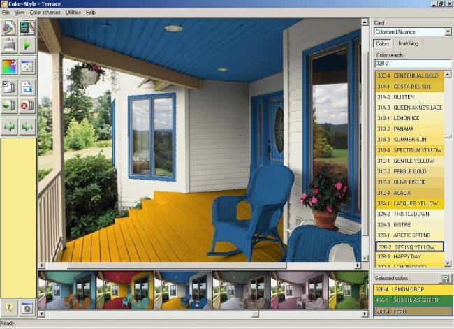 Подбор цветовых сочетаний для косметического ремонта веранды частного дома