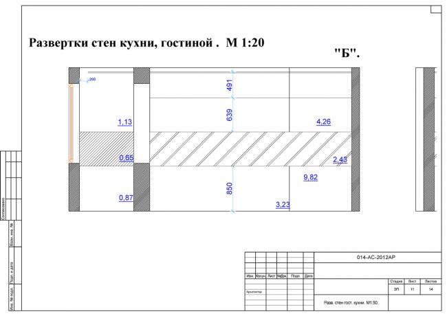 Развертки стен будут нужны на всех стадиях воплощения проекта