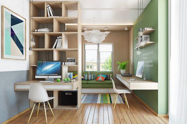 80-метровая квартира (см. другие ее планы в этой статье), оформленная в живых, природных и ярких цветах