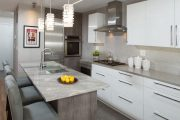 Фото 9 Серый цвет — тренд сезона: 100+ элегантных и современных вариантов серой кухни в интерьере