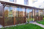 Фото 3 Прозрачные шторы для беседок и веранд (100+ фото): комфорт на даче круглый год и обзор наиболее изящных идей для декора