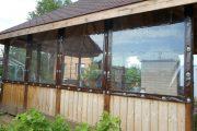 Фото 13 Прозрачные шторы для беседок и веранд (100+ фото): комфорт на даче круглый год и обзор наиболее изящных идей для декора