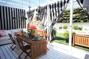 Фото 24 Прозрачные шторы для беседок и веранд: комфорт на даче круглый год и обзор наиболее изящных идей для декора