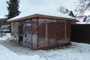 Фото 32 Прозрачные шторы для беседок и веранд: комфорт на даче круглый год и обзор наиболее изящных идей для декора