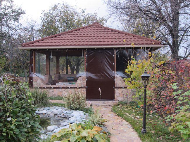 Прозрачные шторы отлично удерживают тепло