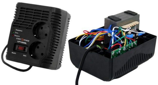 Устройство релейного стабилизатора LogicPower (0,35 кВт)