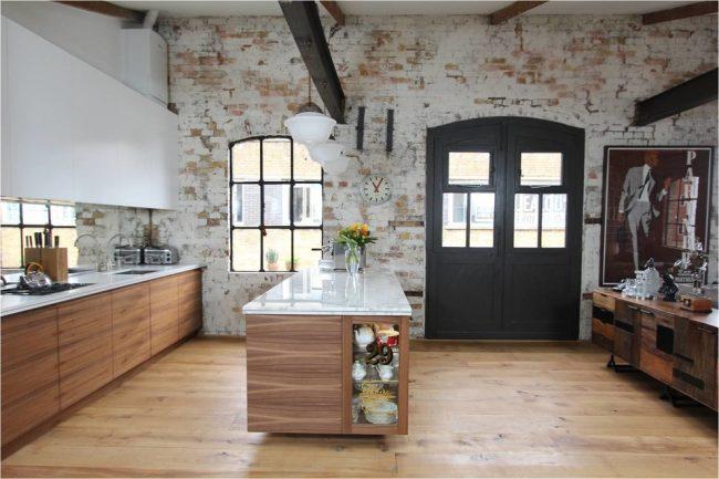 МДФ, примененный в отделке фасада кухонного гарнитура