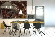 Фото 31 Чем отделать стены на кухне: обзор наиболее практичных и комфортных вариантов