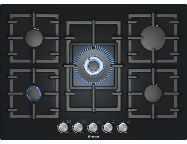Газовая плита с одинарной и тройной короной