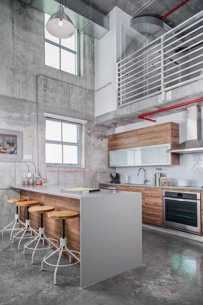 Стильный современный дом в стиле лофт