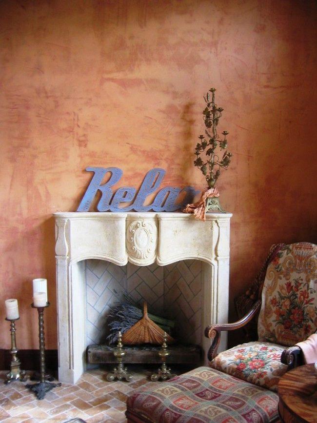 Ретро стиль со стенами, окрашенными фактурной краской