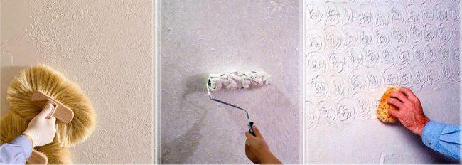 Техника окрашивание стен