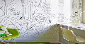 Маркерная краска для стен: необъятный простор для творчества и 65+ лучших вариантов исполнения фото