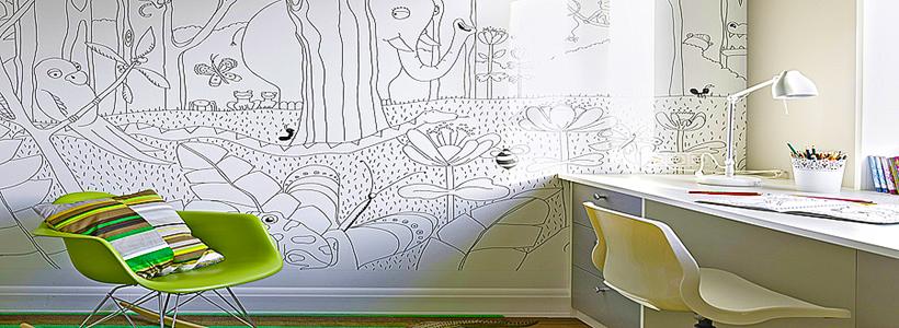Маркерная краска для стен: необъятный простор для творчества и 65+ лучших вариантов исполнения