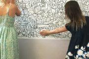 Фото 4 Маркерная краска для стен: необъятный простор для творчества и 65+ лучших вариантов исполнения